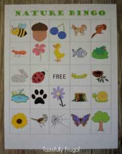 Nature Bingo | Tastefully Frugal