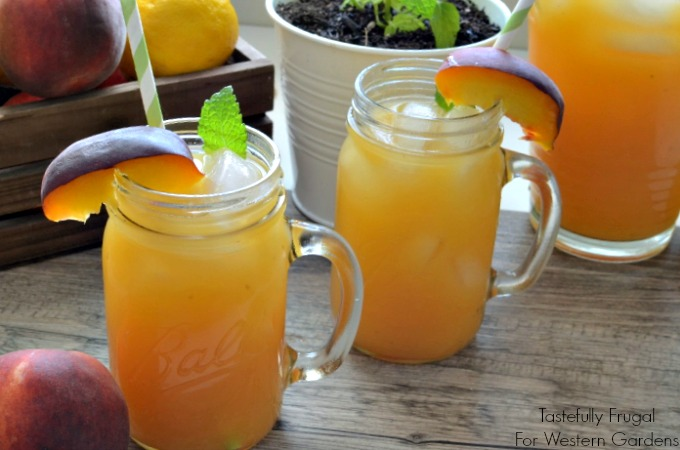 Fresh Peach Mint Lemonade: Sweet peaches paired with cool mint add a refreshing twist to traditional lemonade.