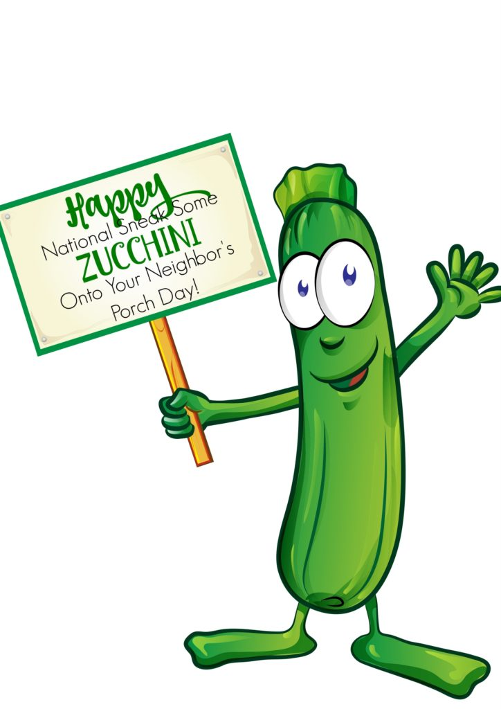 Free printable for National Zucchini day.