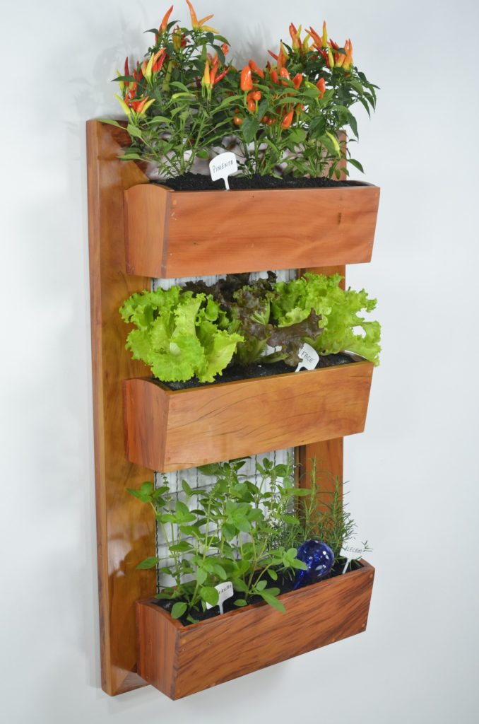 vertical garden wood letter box